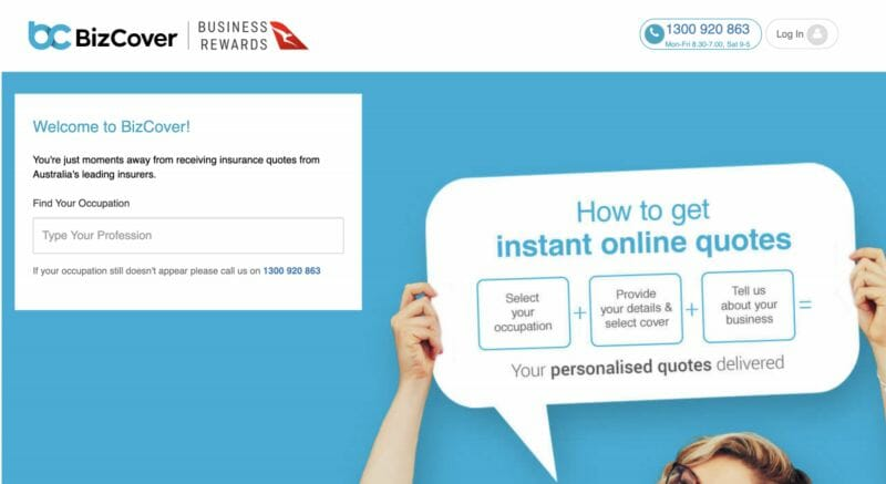 BizCover Website Screenshot